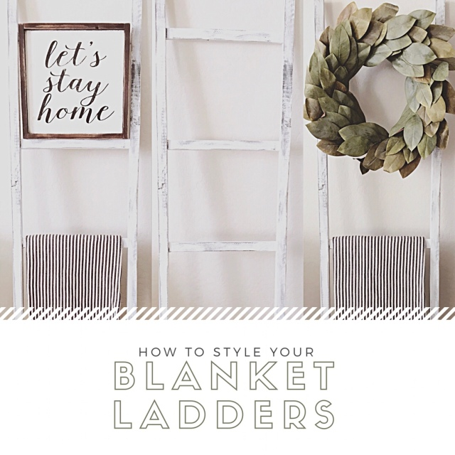 How To Style Your Blanket Ladders In The Living Room