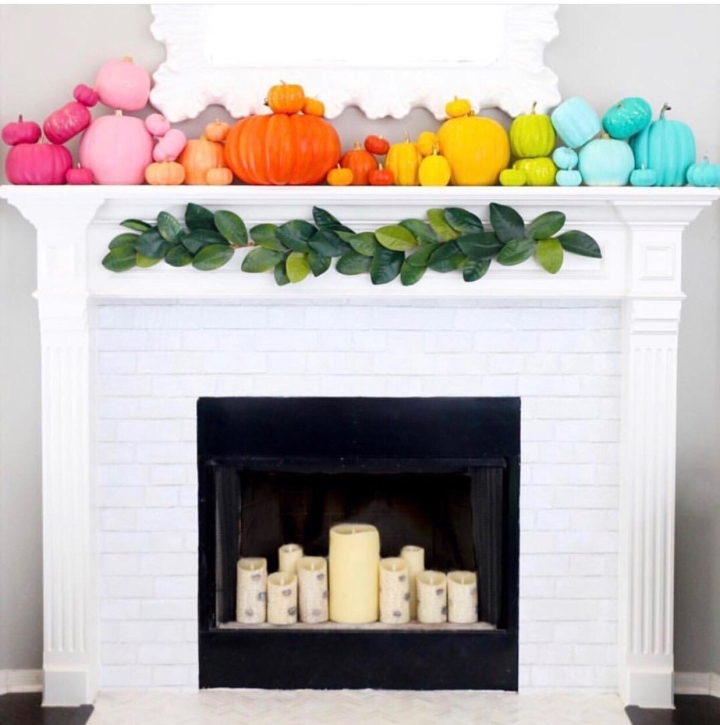 Fall mantle styling guide by the dotted bow how to decorate the perfect fall colorful boho mantlescape
