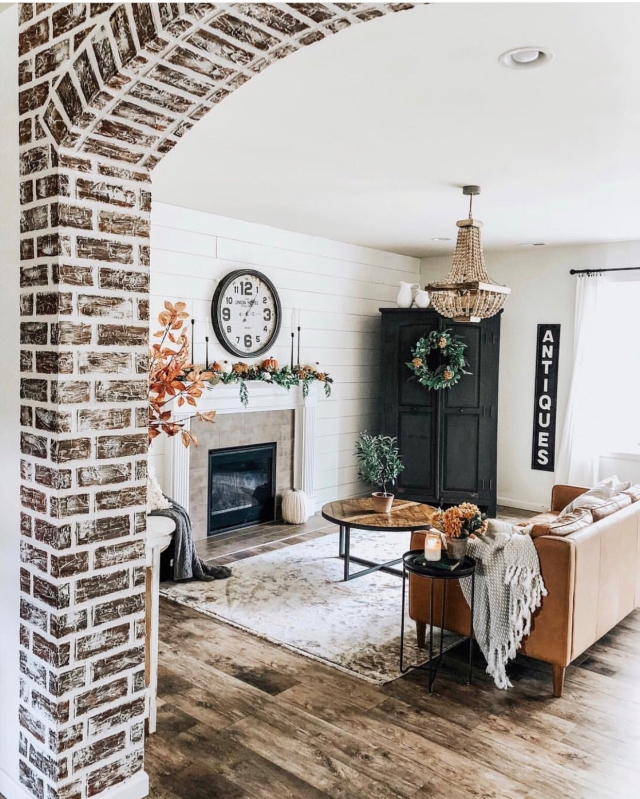 Fall mantle styling guide by the dotted bow how to decorate the perfect modern fall farmhouse mantlescape