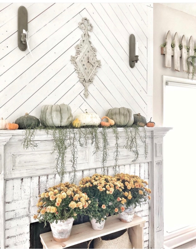 Fall mantle styling guide by the dotted bow how to decorate the perfect fall farmhouse faux mantle mantlescape