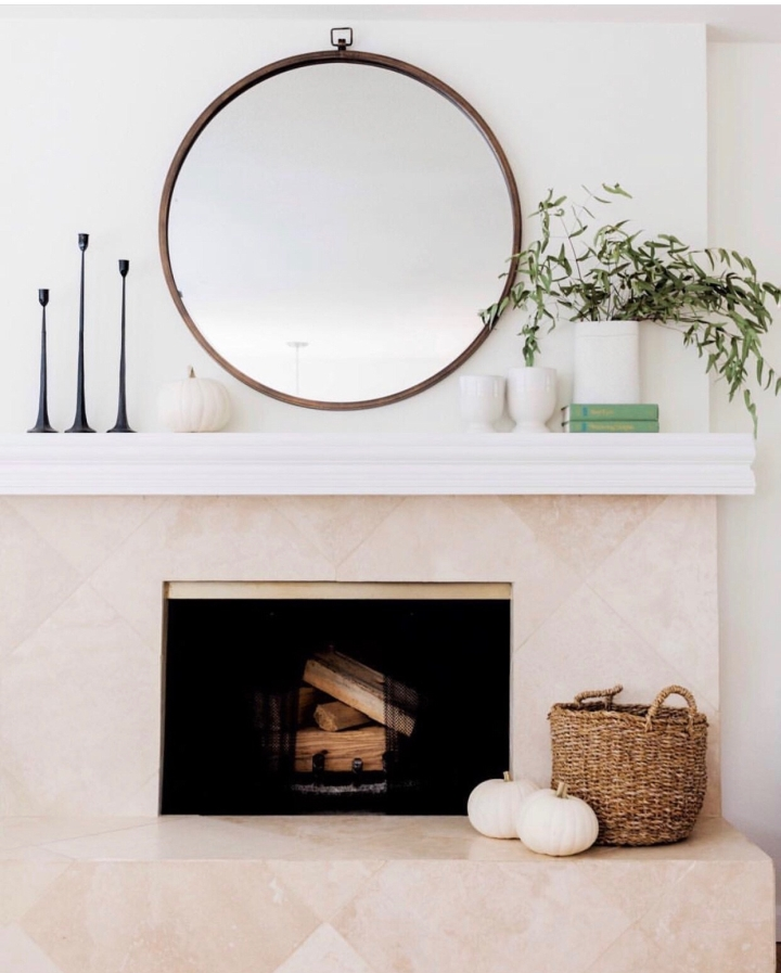 Fall mantle styling guide by the dotted bow how to decorate the perfect modern fall mantlescape
