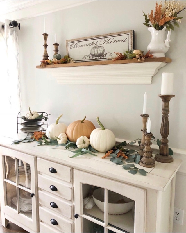 Fall mantle styling guide by the dotted bow how to decorate the perfect rustic country farmhouse fall mantlescape