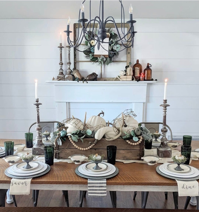 Fall mantle styling guide by the dotted bow how to decorate the perfect fall farmhouse mantlescape