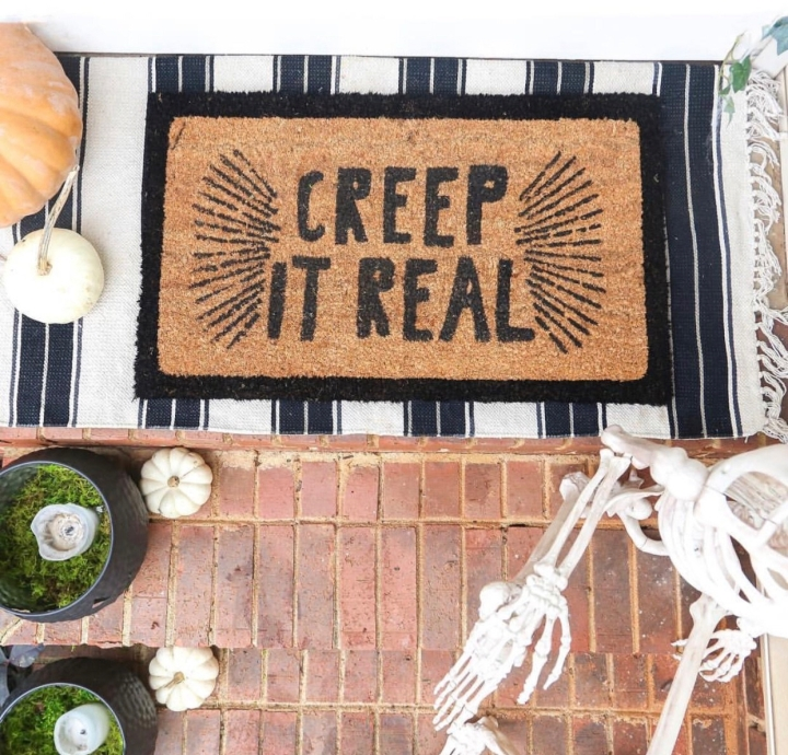 Creep it Real Halloween doormat