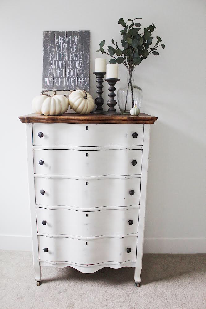 Modern farmhouse bedroom dresser chalk paint furniture
