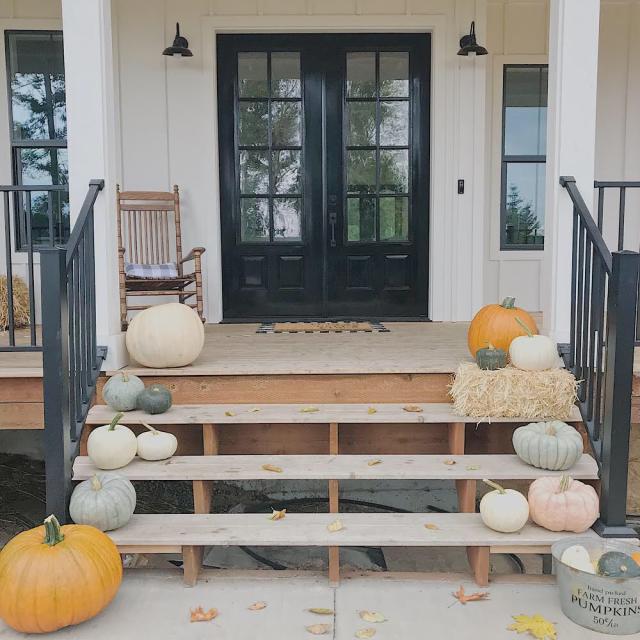 Fall Modern Farmhouse front porch