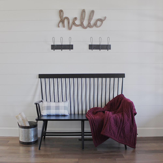 Fall modern Farmhouse entry bench