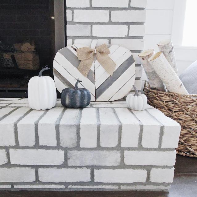 Modern farmhouse fireplace fall farmhouse decor