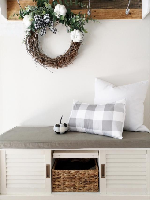 Modern farmhouse cozy cottage home decor fall decor