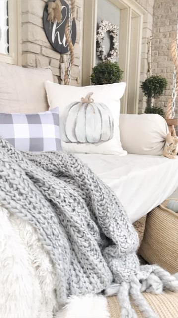Modern farmhouse cozy cottage throw pillows