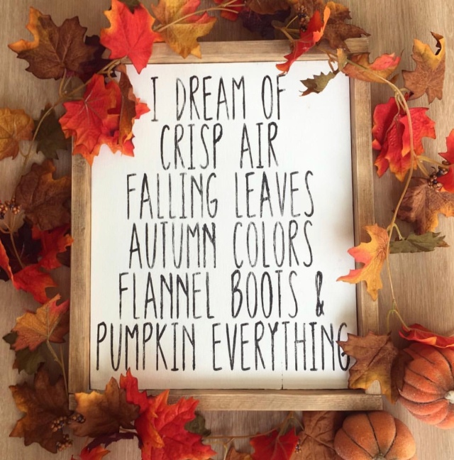 Modern farmhouse fall farmhouse decor I dream of fall wood sign by the dotted bow