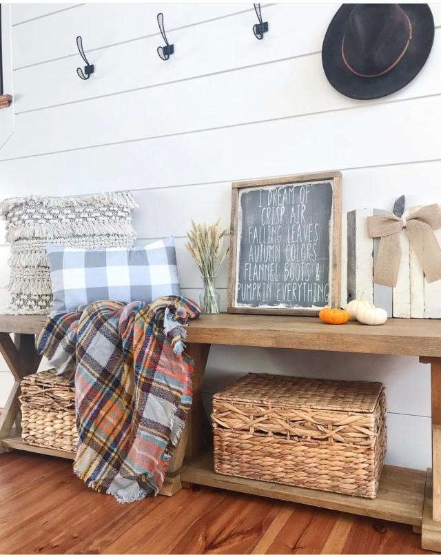Modern farmhouse fall home decor