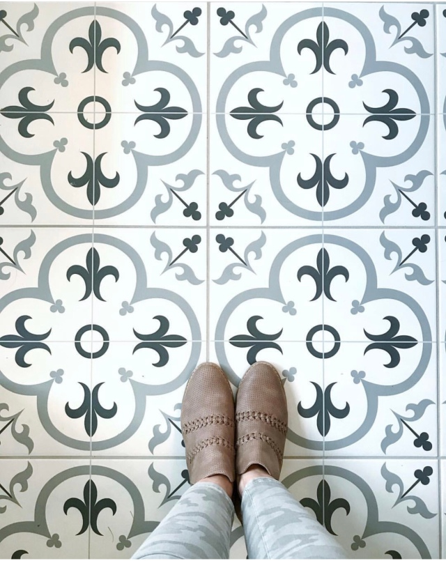 Modern farmhouse fall home decor cement tile