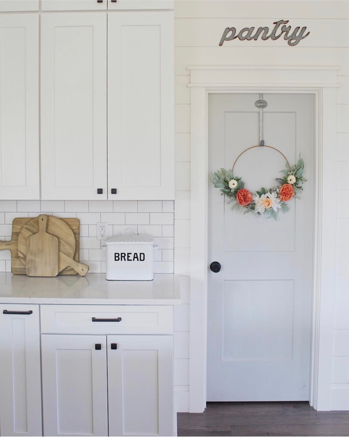 Modern farmhouse fall home decor farmhouse kitchen pantry