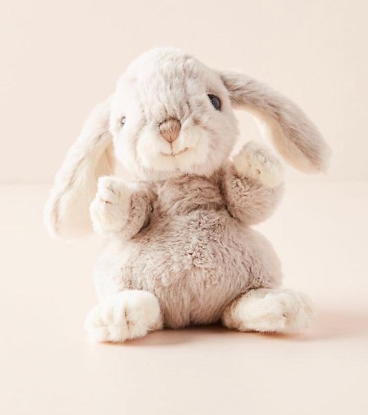 Stuffed bunny kids toys Easter basket gift