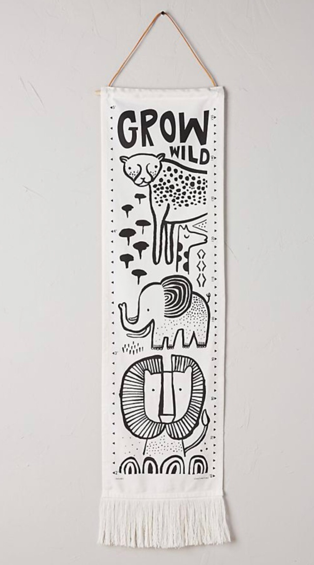 Fabric growth chart neutral growth chart jungle growth chart