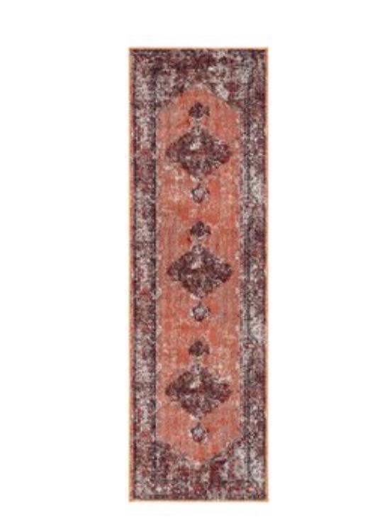 Vintage rug runner modern boho rug