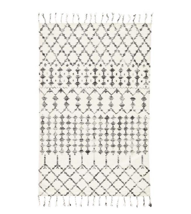 Modern boho rug Moroccan shag rug neutral rug