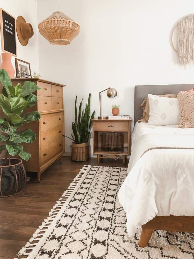 Modern boho bedroom neutral bedroom decor