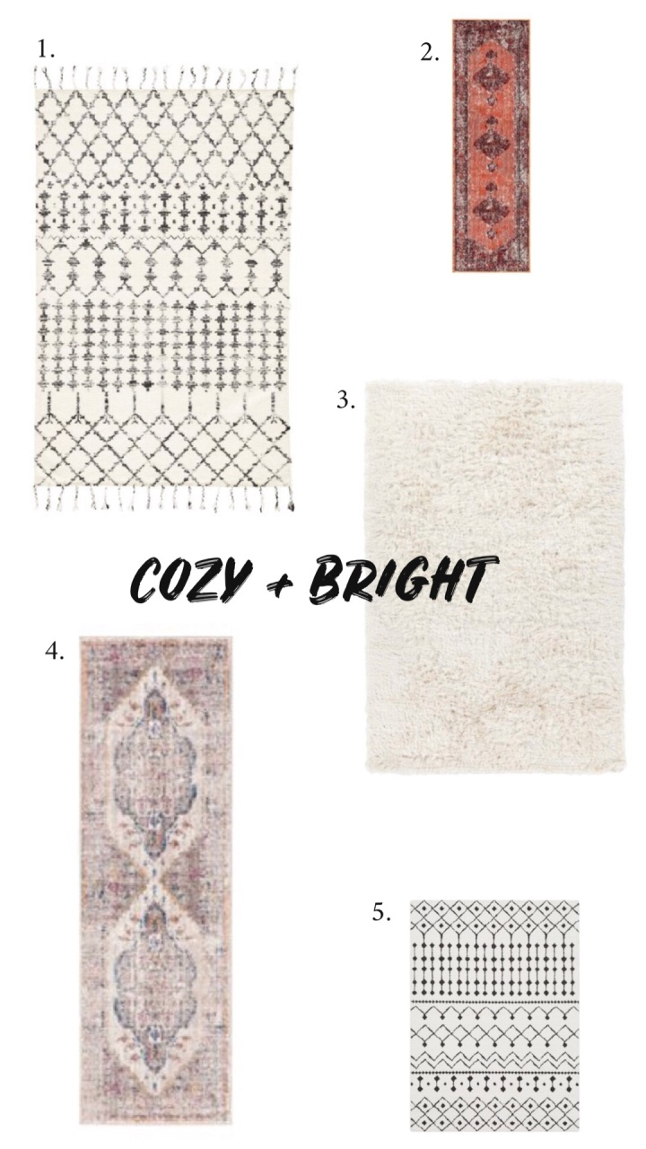 Cozy bright modern boho rugs