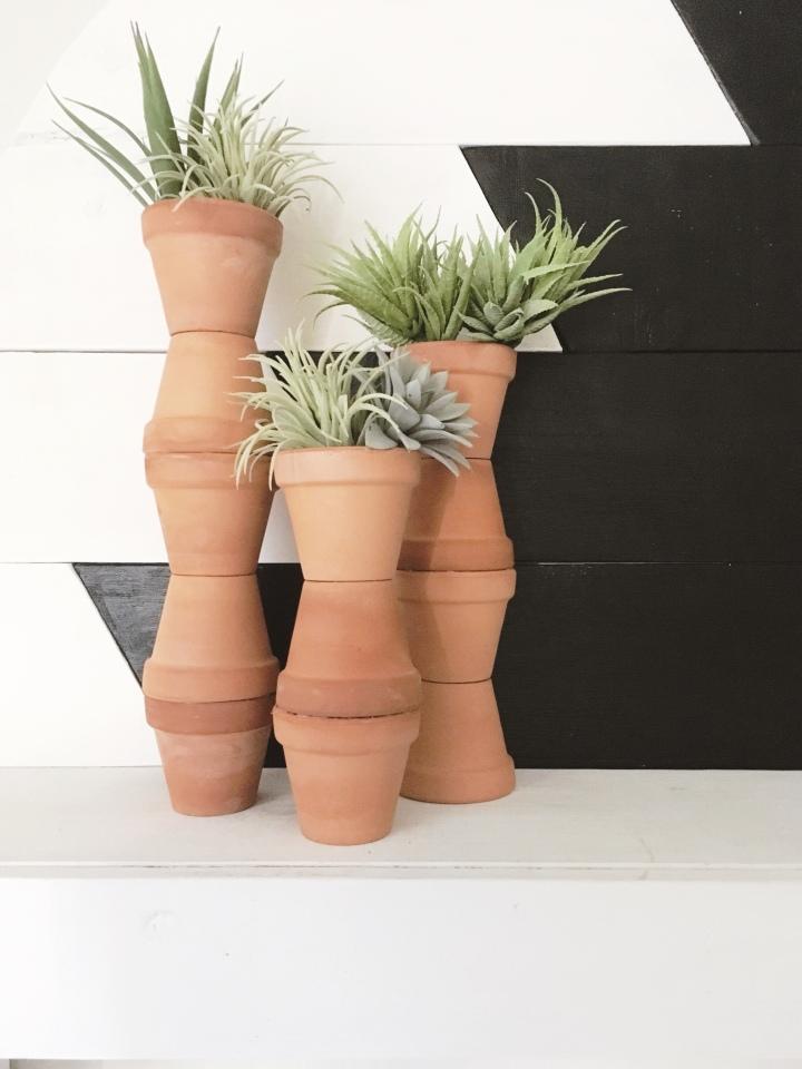 DIY terracotta pot Modern terracotta planters terracotta vase modern southwest decor modern desert decor desert aesthetic succulents cacti planter
