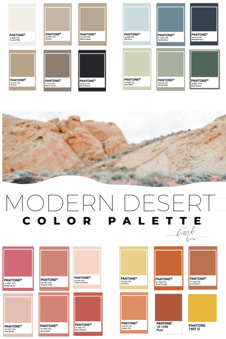 Modern Southwest Home Decor Desert Aesthetic Color Palette Design Board