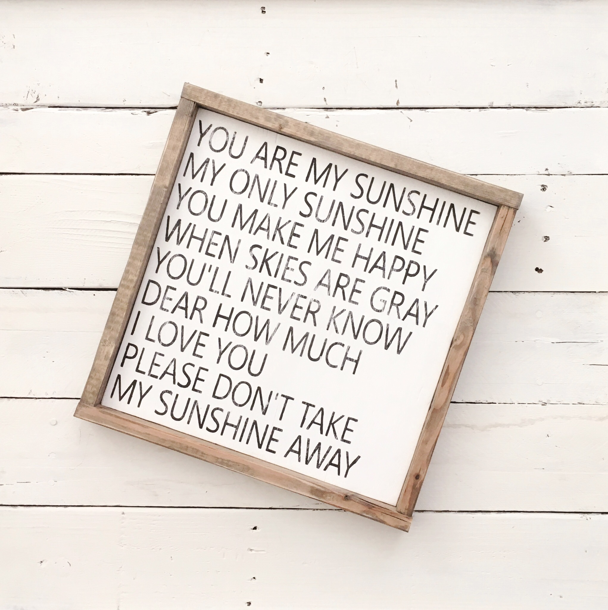 You are my sunshine wood sign // pallet sign // framed sign // wood sign// wall decor // wall art