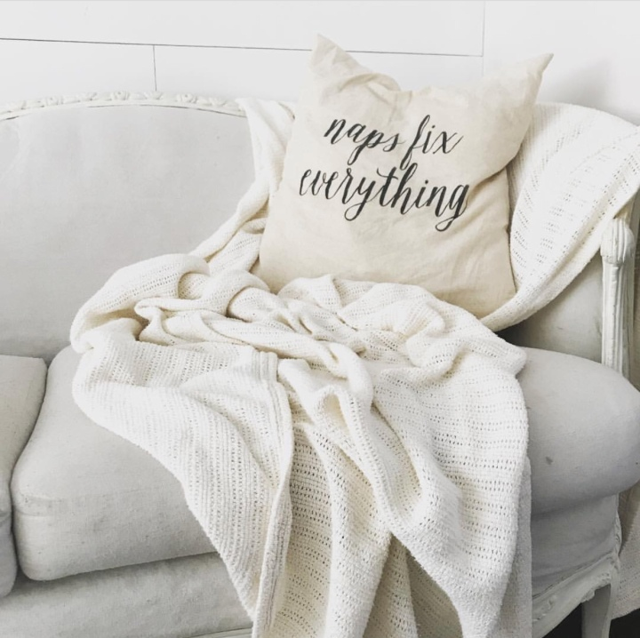 Naps fix everything // Farmhouse Pillow // Throw PillowCover #pillow #naps #giftsformom #thedottedbow