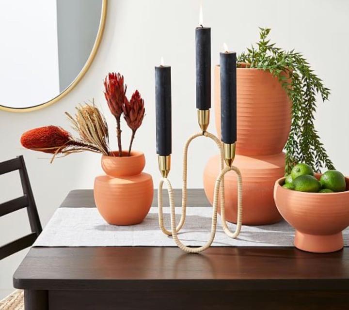 West elm modern terracotta vase modern vase