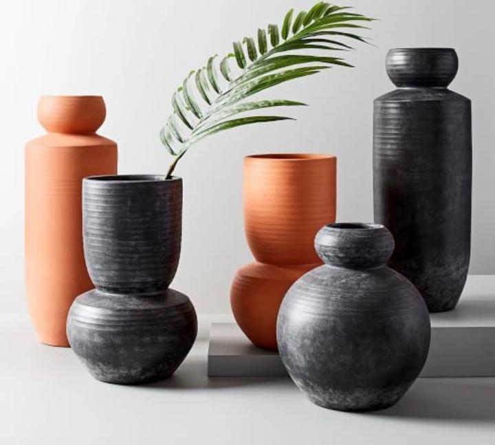 West elm terracotta vase modern vase