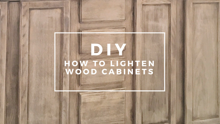 DIY How to lighten wood cabinets bathroom makeover