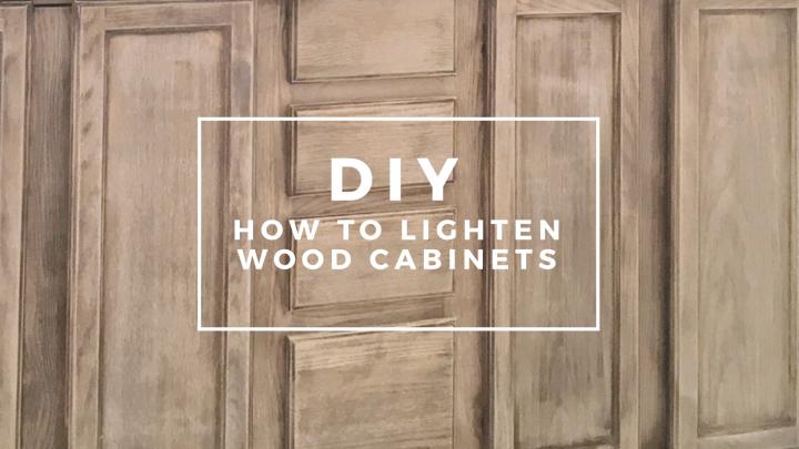 DIY How to lighten wood cabinets bathroom makeover