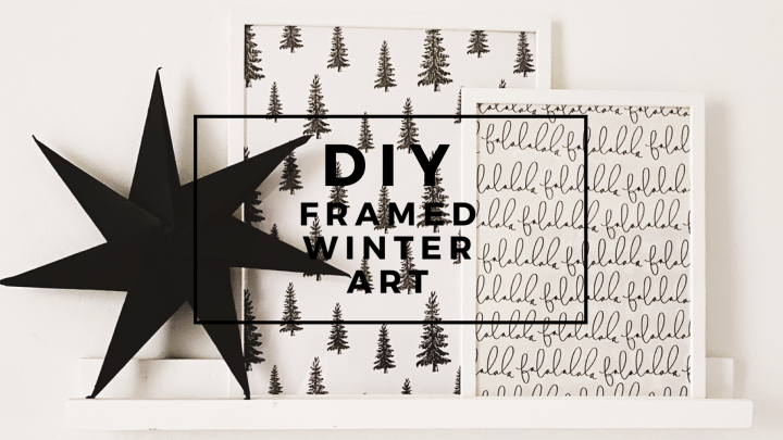 DIY frames winter art Christmas wrapping paper Christmas gallery Christmas wall decor