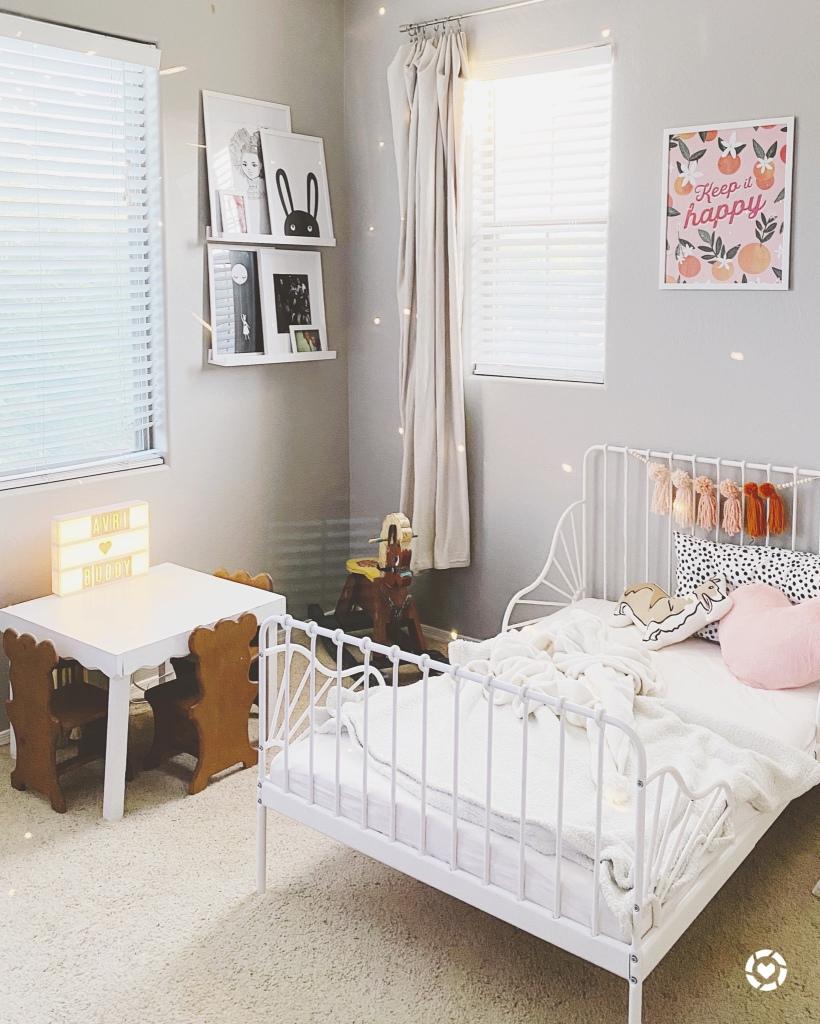 Orange and Blush Kids bedroom