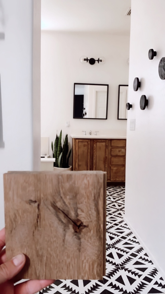 Natural oak bathroom