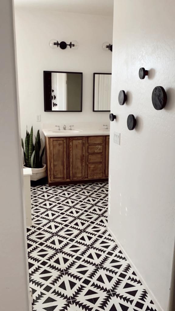 Painted bathroom floors