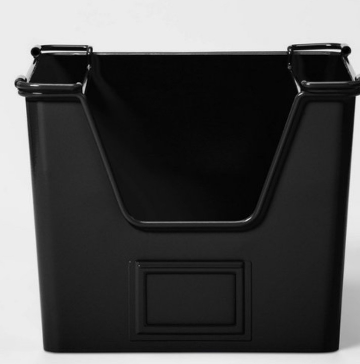 Black metal storage basket bathroom storage bathroom organization