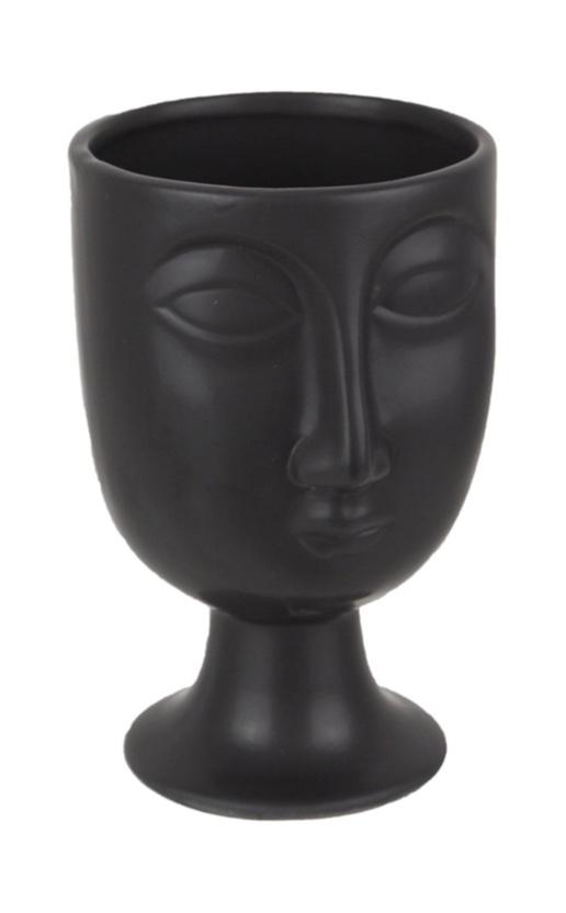Modern  face planter black vase modern bathroom decor pretty storage ideas