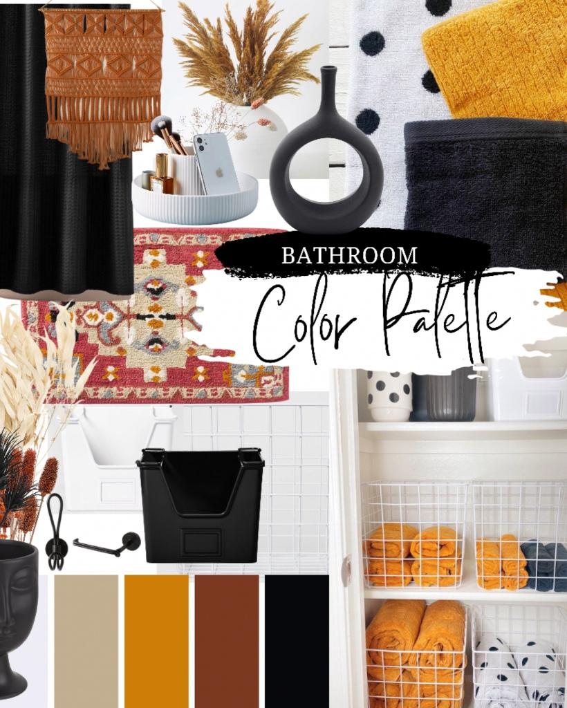 Modern bathroom boho bathroom southwest bathroom decor bathroom mood board bathroom design moody bathroom decor bathroom organization