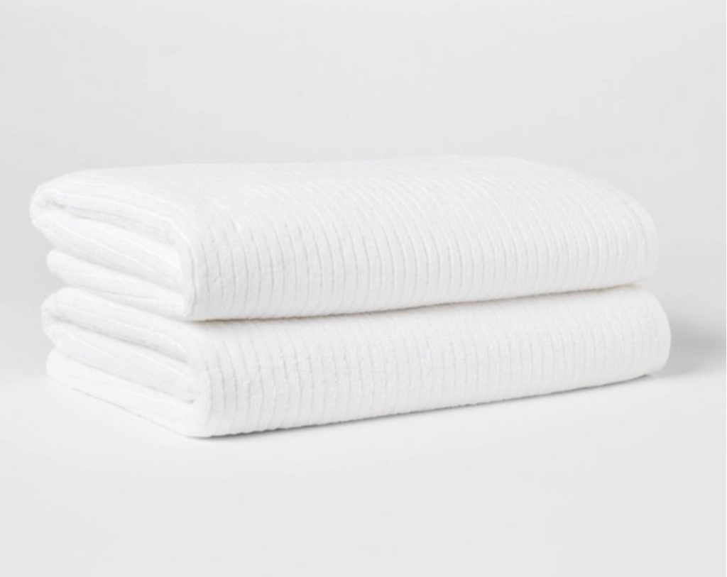 Quick dry ribbed white towels cheap bathroom towels inexpensive bath towels white bathroom